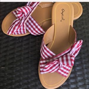 6.5 Red And White Sandal